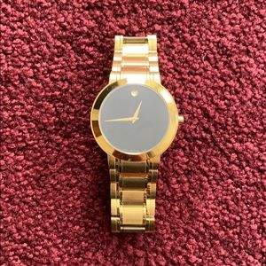 Yellow gold Movado watch